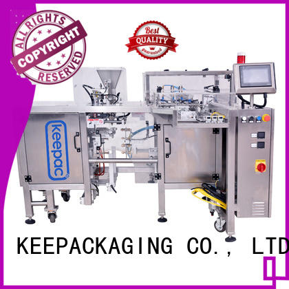 Keepac mini grain packing machine customized for pre-openned zipper pouch