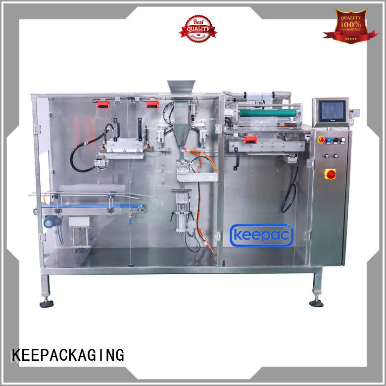 Keepac Brand cup doypack corner horizontal packing machine