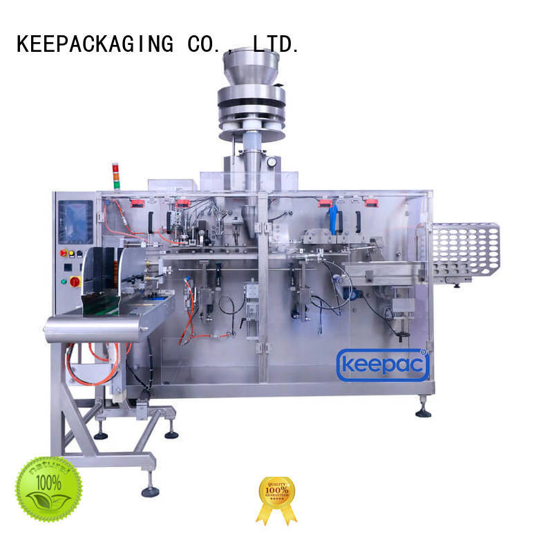 Keepac staight flow design horizontal packing machine factory for beverage