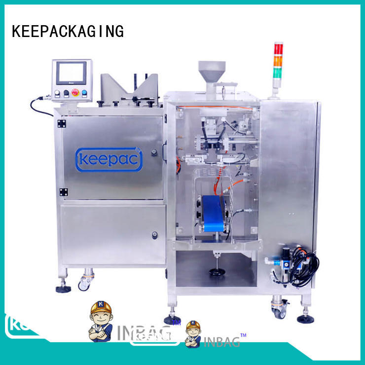 Keepac low cost chips packaging machine customized for pre-openned zipper pouch