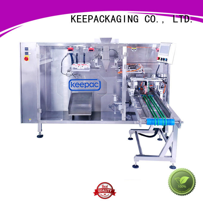 durable juice pouch packing machine straight flow design supplier for 3 sides sealed pouch