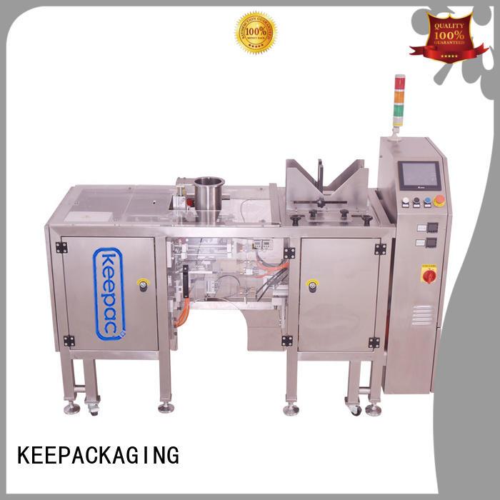 Keepac stainless steel 304 snack food packaging machine wholesale for food