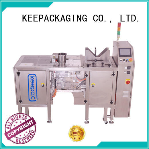Keepac quick release snack food packaging machine manufacturing for pre-openned zipper pouch