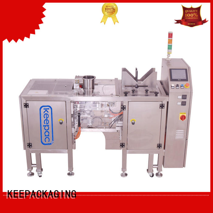 product packaging machine quick release for pre-openned zipper pouch Keepac