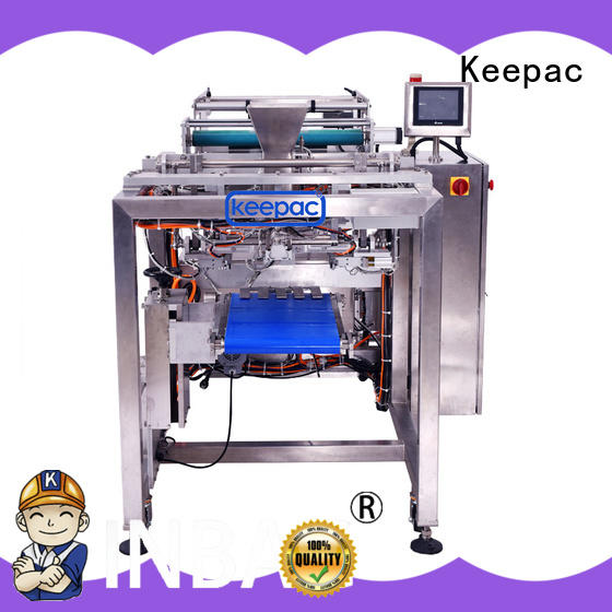 Keepac cost-effective auto packaging machine straight flow design for zipper bag