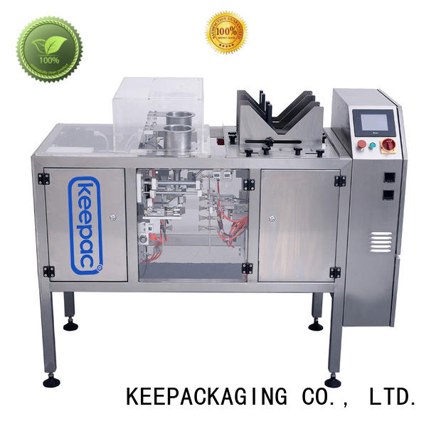 Keepac stainless steel 304 snack food packaging machine factory direct for pre-openned zipper pouch