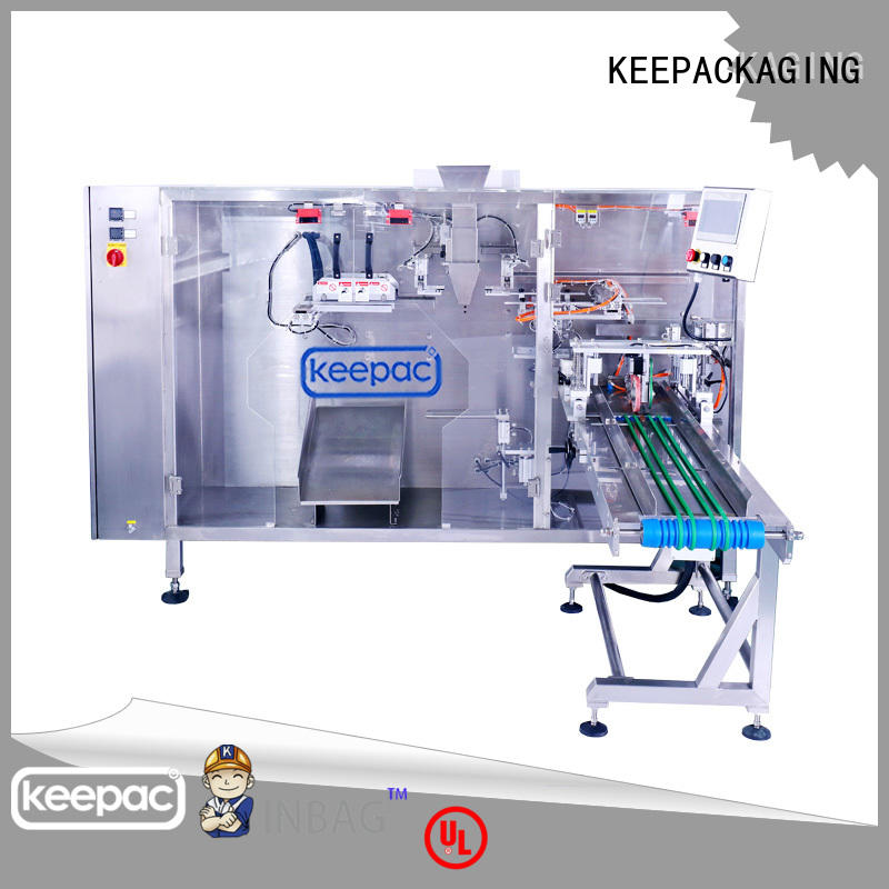 Keepac automatic stand pouch packing machine design for zipper bag