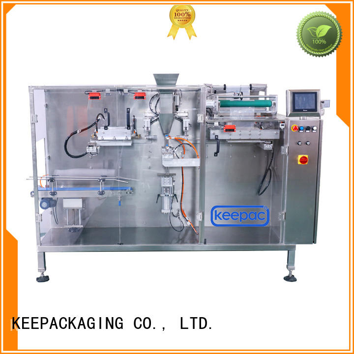 Keepac staight flow design horizontal packaging machine factory for commodity
