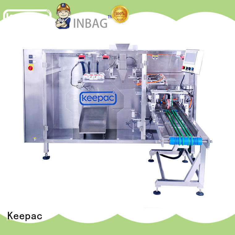 cost-effective plastic pouch packing machine straight flow design design for 3 sides sealed pouch