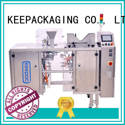 Keepac adjustable fully automatic packing machine customized for pre-openned zipper pouch