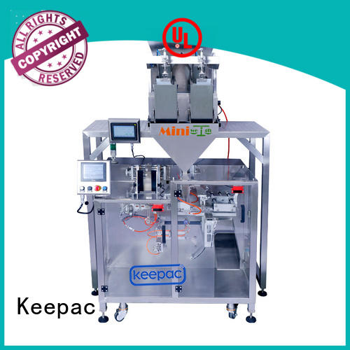 Keepac duplex form fill seal machine supplier for zipper bag