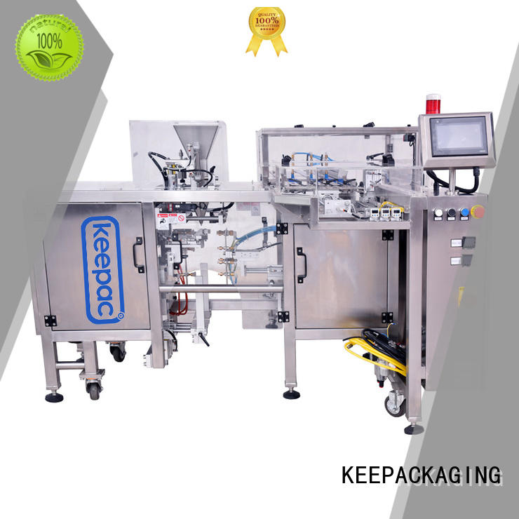 feeder pouch stainless product packaging machine Keepac Brand