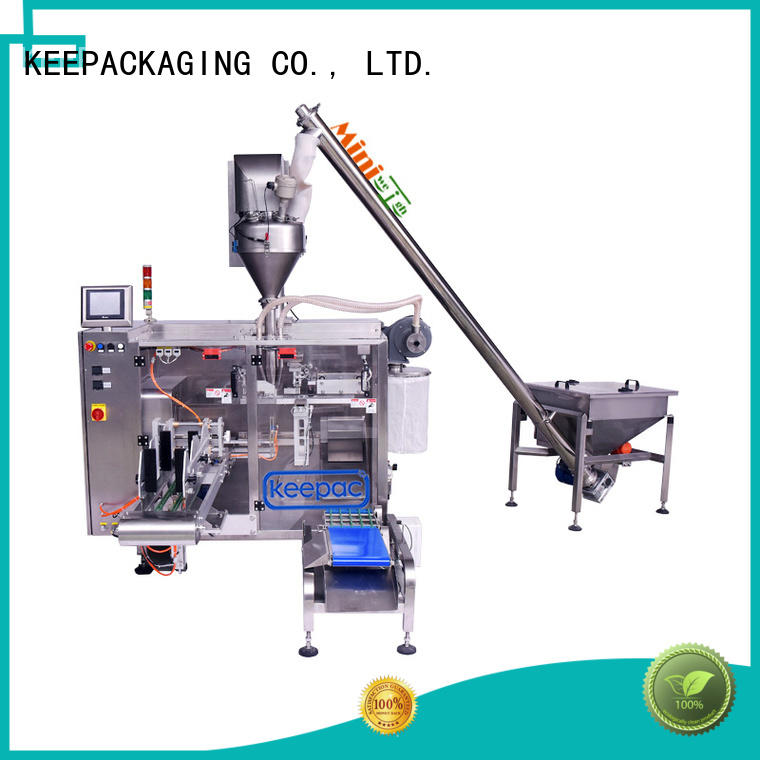 Keepac efficient plastic packaging machine staight flow design for standup pouch