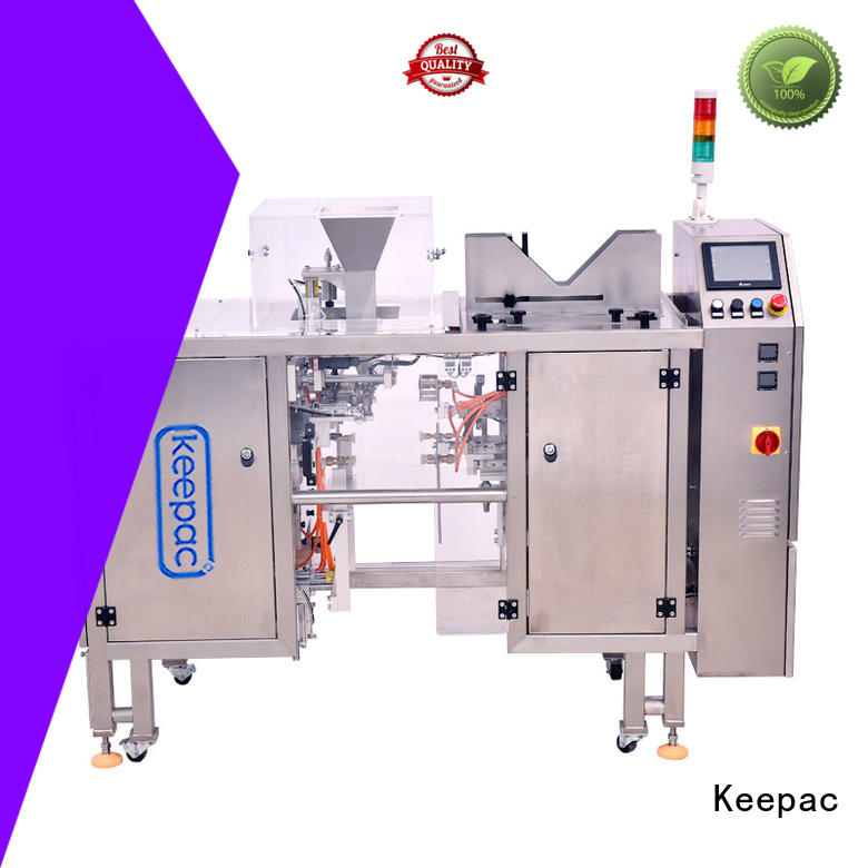 Keepac multi bag format small food packaging machine customized for pre-openned zipper pouch