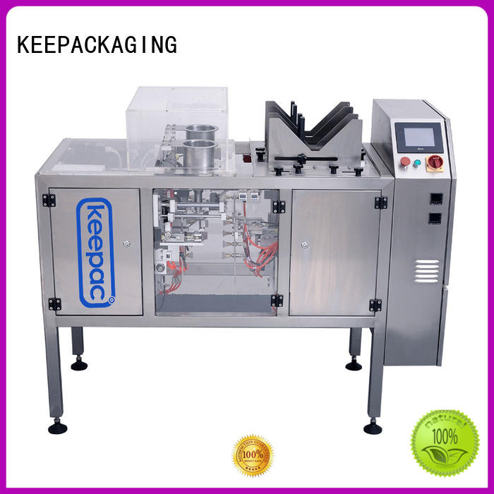 Keepac automatic snack food packaging machine wholesale for pre-openned zipper pouch