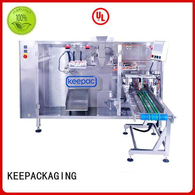 Keepac 8 inches milk pouch packing machine Supply for 3 sides sealed pouch