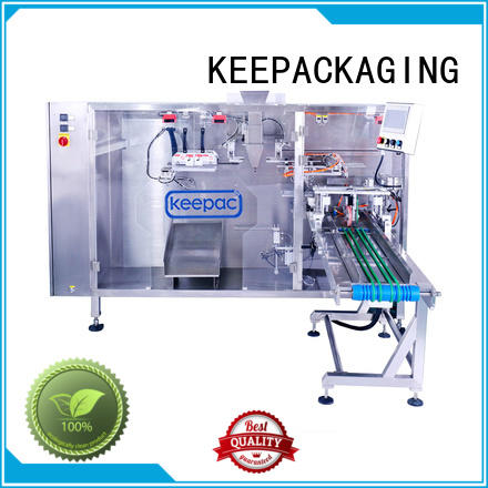 straight flow design automatic liquid packaging machine quick release for 3 sides sealed pouch Keepac