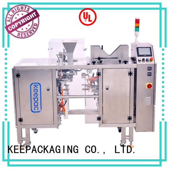 Keepac New food packaging machine company for pre-openned zipper pouch
