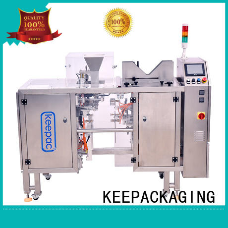 Keepac different sized doypack machine factory direct for pre-openned zipper pouch