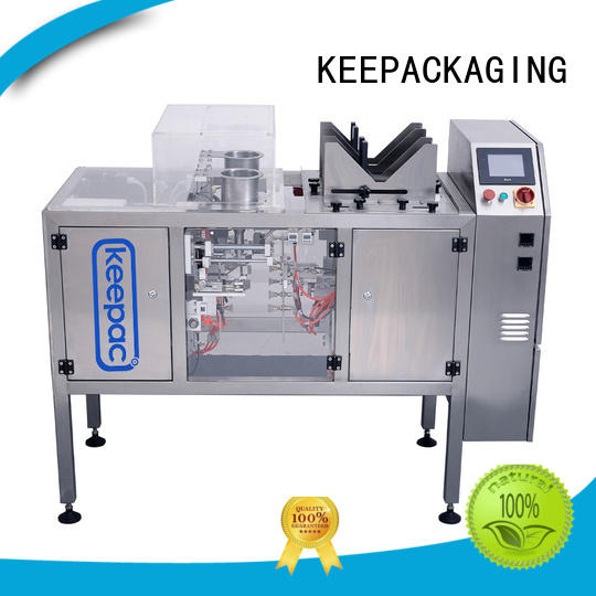 Keepac different sized doypack machine manufacturing for pre-openned zipper pouch