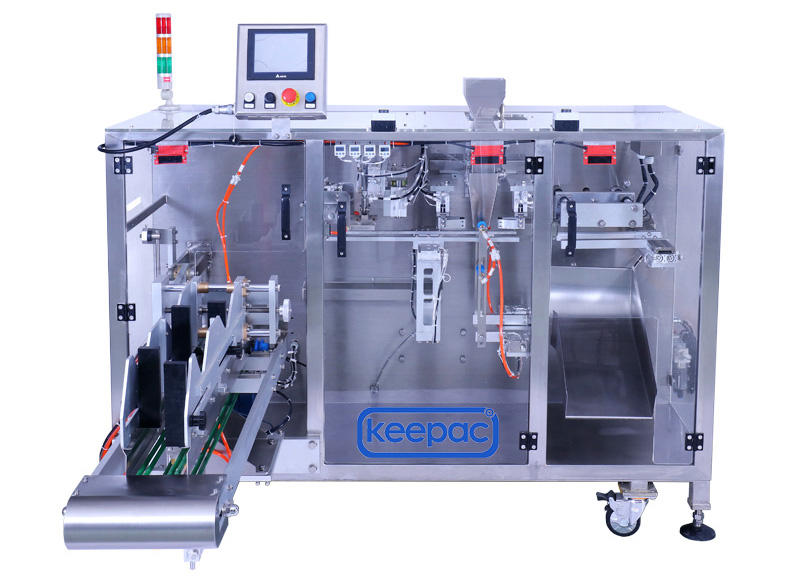 Keepac duplex horizontal form fill seal machine design for zipper bag-1