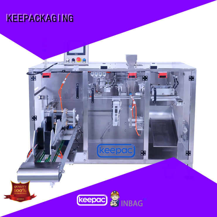 Keepac 8 inches horizontal form fill seal machine design for zipper bag