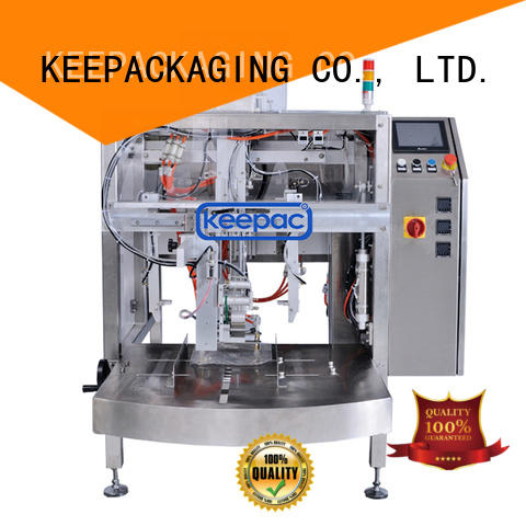 Keepac stainless steel 304 small food packaging machine wholesale for pre-openned zipper pouch