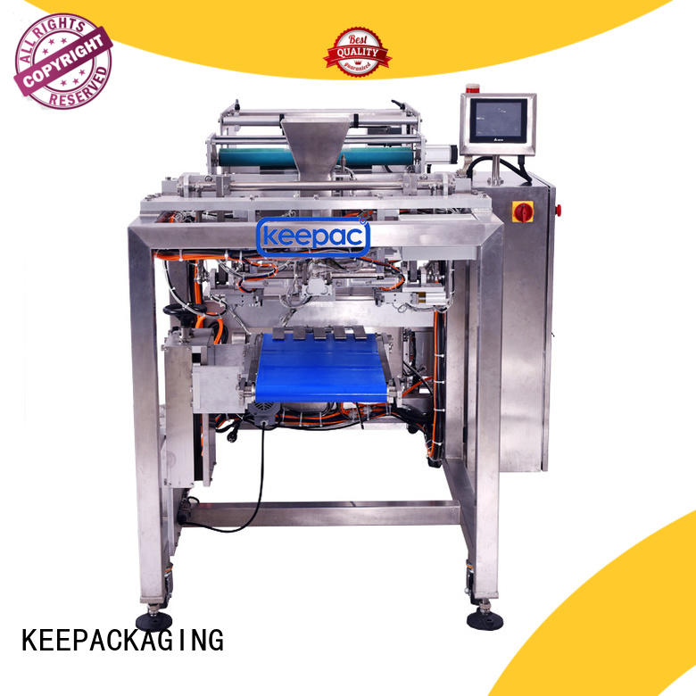 Keepac minitube food packing machine customized for standup pouch