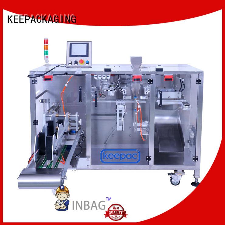 Keepac duplex form fill seal machine design for standup pouch