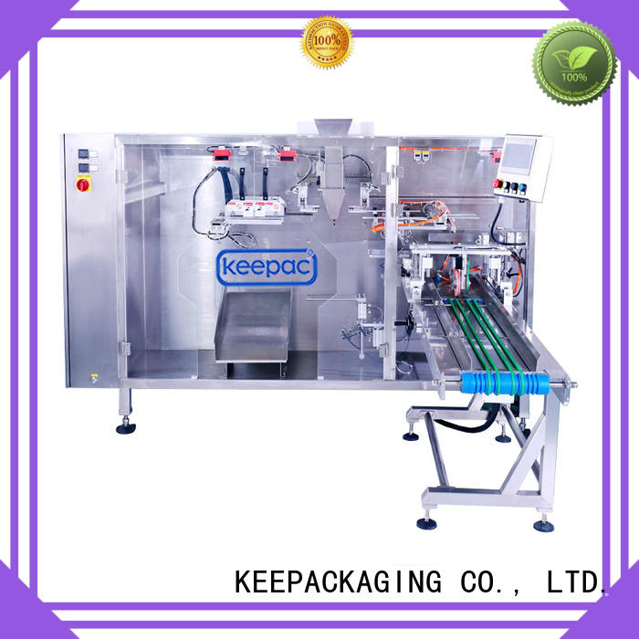 Keepac easy to clean stand up pouch packing machine manufacturer for zipper bag